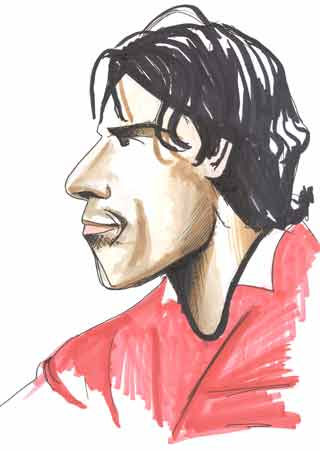 Ruud van Nistelrooy playing for Manchester United Copyright battlersandbottlers.com