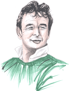 Illustration showing Brian Clough copyright battlersandbottlers
